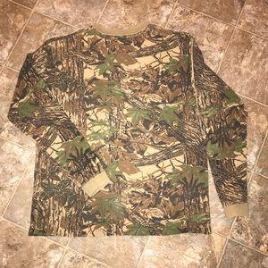 Camouflage XL women long sleeved cotton T-shirt